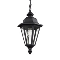 Sea Gull Lighting Brentwood 1 Light Outdoor Pendant in Black 6025-12