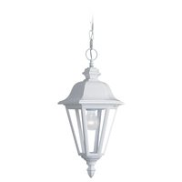 Sea Gull Lighting Brentwood 1 Light Outdoor Pendant in White 6025-15