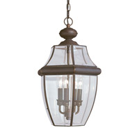 Lancaster 3 Light 12 inch Antique Bronze Outdoor Pendant