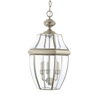 Sea Gull 6039EN-965 Lancaster 3 Light 12 inch Antique Brushed Nickel Outdoor Pendant