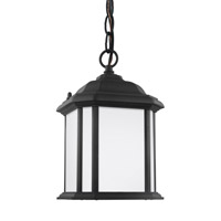 Sea Gull 60529EN3-12 Kent 1 Light 7 inch Black Outdoor Semi-Flush Convertible Pendant