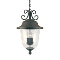 Trafalgar 3 Light 12 inch Oxidized Bronze Outdoor Pendant