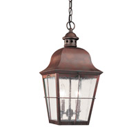 Chatham 2 Light 9 inch Silver Outdoor Pendant