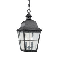 Chatham 2 Light 9 inch Oxidized Bronze Outdoor Pendant