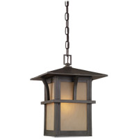Sea Gull Lighting Medford Lakes 1 Light Outdoor Pendant in Statuary Bronze 60880-51