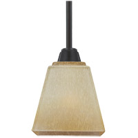 Parkfield 1 Light 5 inch Flemish Bronze Mini Pendant Ceiling Light in Creme Parchement Glass, Standard
