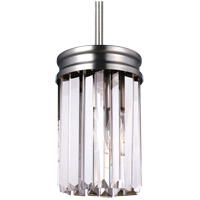 Sea Gull Carondelet 1 Light Mini Pendant in Antique Brushed Nickel 6114001-965