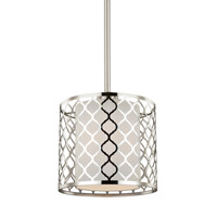 Jourdanton 1 Light 8 inch Brushed Nickel Pendant Ceiling Light