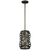 Sea Gull 6128601-802 Cowen 1 Light 8 inch Obsidian Mist Pendant Ceiling Light