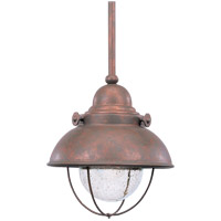 Sea Gull 615093S-44 Sebring LED 8 inch Weathered Copper Outdoor Mini-Pendant