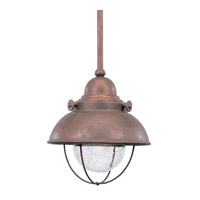 Sea Gull 615091S-44 Sebring LED 8 inch Weathered Copper Outdoor Mini Pendant