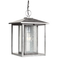 Sea Gull Lighting Hunnington 1 Light Outdoor Pendant in Weathered Pewter 62027-57