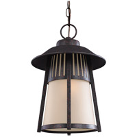 Sea Gull Hamilton Heights 1 Light Outdoor Pendant in Oxford Bronze 6211701-746