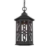 Sea Gull 6217091S-12 Ormsby LED 9 inch Black Outdoor Pendant