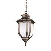 Sea Gull Lighting Childress LED Outdoor Pendant in Antique Bronze with Satin Etched Glass 6236391S-71