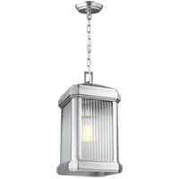 Gaelan 1 Light 9 inch Painted Brushed Nickel Outdoor Pendant