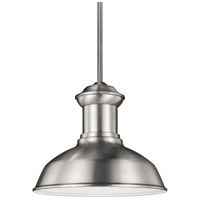 Fredricksburg 1 Light 13 inch Satin Aluminum Outdoor Pendant in Standard
