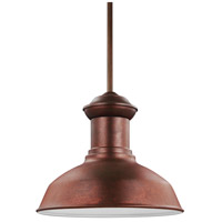 Sea Gull Lighting Fredricksburg 1 Light Outdoor Pendant in Weathered Copper 6247701-44
