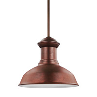 Fredricksburg 1 Light 13 inch Weathered Copper Outdoor Pendant in Fluorescent