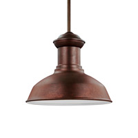Sea Gull 6247701EN3-44 Fredricksburg 1 Light 13 inch Weathered Copper Outdoor Pendant