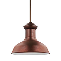 Sea Gull Lighting Fredricksburg LED Outdoor Pendant in Weathered Copper 6247791S-44