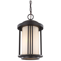 Sea Gull Lighting Crowell 1 Light Outdoor Pendant in Antique Bronze with Creme Parchment Glass 6247901-71