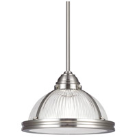 Sea Gull 65060-962 Pratt Street Prismatic 1 Light 11 inch Brushed Nickel Pendant Ceiling Light in Standard photo thumbnail