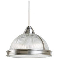 Pratt Street Prismatic 2 Light 13 inch Brushed Nickel Pendant Ceiling Light in Standard
