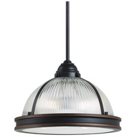 Pratt Street Prismatic 2 Light 13 inch Autumn Bronze Pendant Ceiling Light in Fluorescent