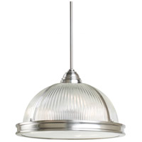 Sea Gull Lighting Pratt Street Prismatic Fluorescent 3 Light Pendant in Brushed Nickel 65062BLE-962 photo thumbnail