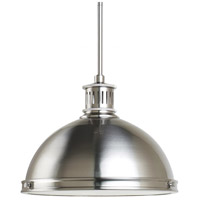 Pratt Street Metal 2 Light 13 inch Brushed Nickel Pendant Ceiling Light in Standard