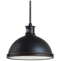 Sea Gull Lighting Pratt Street Metal Fluorescent 2 Light Pendant in Autumn Bronze 65086BLE-715