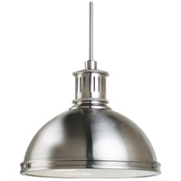 Brushed Nickel Steel Pratt Street Pendants