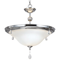 West Town 3 Light 23 inch Chrome Pendant Ceiling Light in Fluorescent