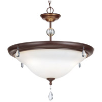 West Town 3 Light 23 inch Burnt Sienna Pendant Ceiling Light in Fluorescent