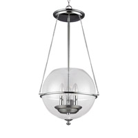 Sea Gull 6511903EN-05 Havenwood 3 Light 15 inch Chrome Pendant Ceiling Light