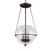 Sea Gull 6511903EN-715 Havenwood 3 Light 15 inch Autumn Bronze Pendant Ceiling Light