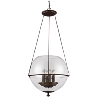 Sea Gull 6511906-715 Havenwood 6 Light 21 inch Autumn Bronze Pendant Ceiling Light