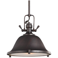 Sea Gull 6514401-710 Stone Street 1 Light 13 inch Burnt Sienna Pendant Ceiling Light