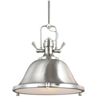 Sea Gull Stone Street 1 Light Pendant in Brushed Nickel 6514401-962