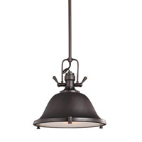 Sea Gull 6514401EN3-710 Stone Street 1 Light 13 inch Burnt Sienna Pendant Ceiling Light