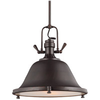 Sea Gull 6514402-710 Stone Street 2 Light 17 inch Burnt Sienna Pendant Ceiling Light