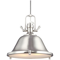 Sea Gull 6514402-962 Stone Street 2 Light 17 inch Brushed Nickel Pendant Ceiling Light
