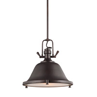Sea Gull 6514402EN3-710 Stone Street 2 Light 17 inch Burnt Sienna Pendant Ceiling Light