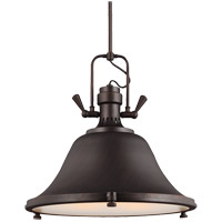 Stone Street 3 Light 22 inch Burnt Sienna Pendant Ceiling Light in Fluorescent