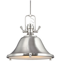 Sea Gull Stone Street 3 Light Pendant in Brushed Nickel 6514403-962