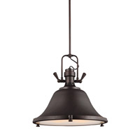 Sea Gull 6514403EN3-710 Stone Street 3 Light 22 inch Burnt Sienna Pendant Ceiling Light