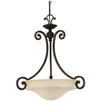 Acadia 3 Light 22 inch Misted Bronze Pendant Ceiling Light in Standard