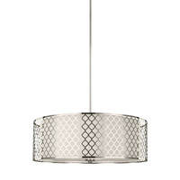 Sea Gull 6515504-962 Jourdanton 4 Light 24 inch Brushed Nickel Pendant Ceiling Light