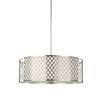 Jourdanton 4 Light 24 inch Brushed Nickel Pendant Ceiling Light